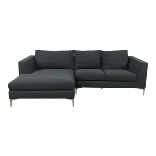 Modern Gray Left Chaise Sectional Sofa