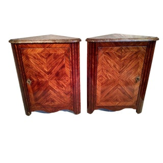 French Corner Cabinets - A Pair