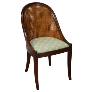 Grange Cane Barrel Back Gondola Chair