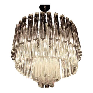 Venini Four Tier Icicle Crystals Chandelier