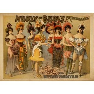 Vaudeville Print of 1800's Advertisement