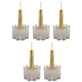 Set of Five Doria Pendant Lights