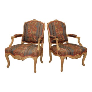 Country French Style Armchairs - A Pair