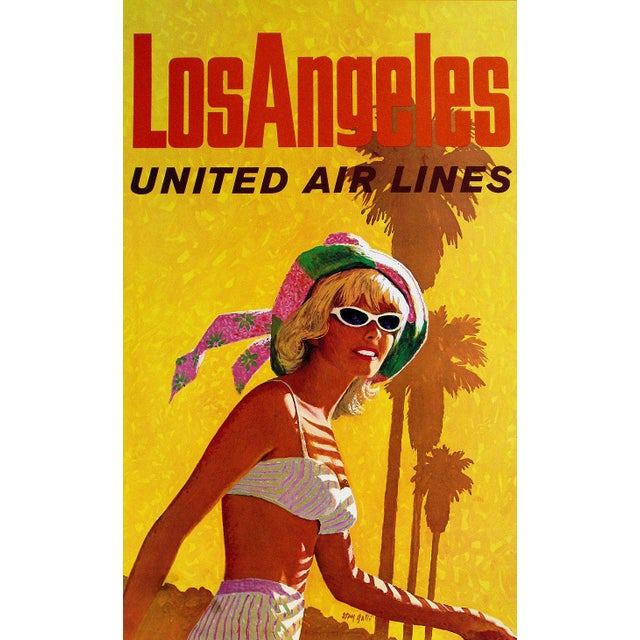 Image of Vintage Reproduction Los Angeles Travel Poster