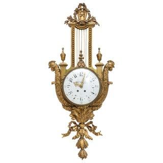 19th Century Dore Bronze Cartel Clock