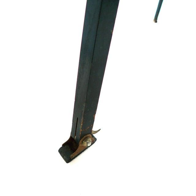 Aluminum & Wood Tripod Floor Lamp - Image 6 of 6