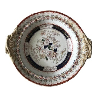 Antique Transferware Ironstone Serving Bowl