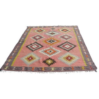 Vintage Turkish Kilim Rug - 6′5″ × 8′9″