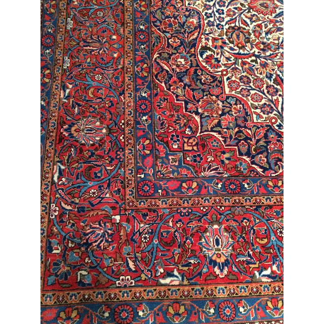 "Antique Persian Kashan Rug - 8'11"" X 11'7"" - Image 3 of 4"