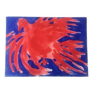 Original Vintage Robert Cooke Chicken Painting