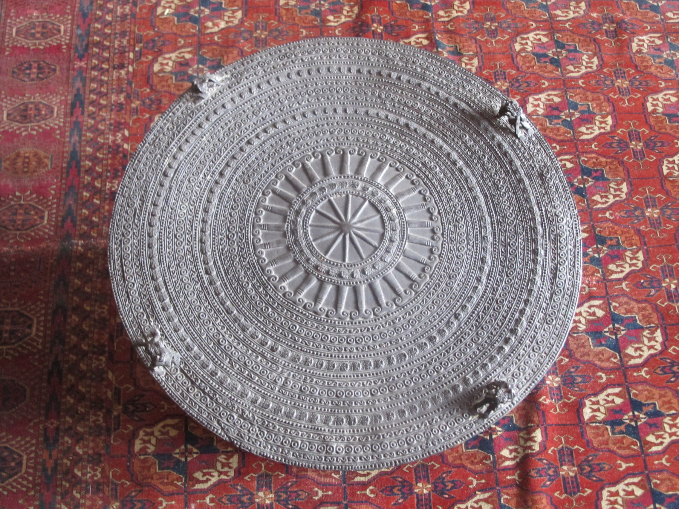Se Asian Dong Son Bronze Rain Drum Table   Image 4 Of 10