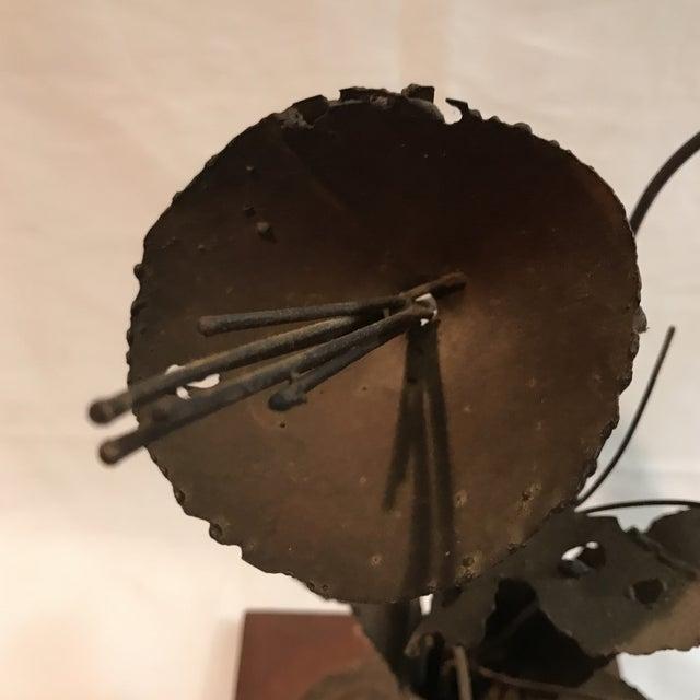 Brutalist Floral Metal Sculpture - Image 6 of 11