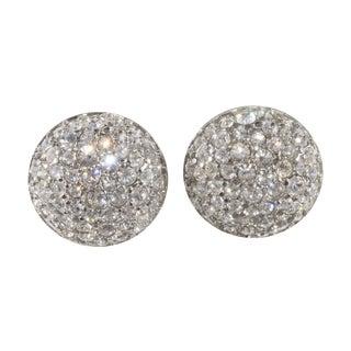 Swarovski Rhinestone Button Earrings
