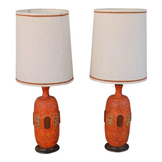Vintage Ceramic Lamps - a Pair