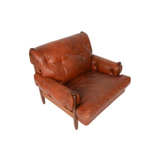 Walnut & Leather Brazilian Style Club Chair