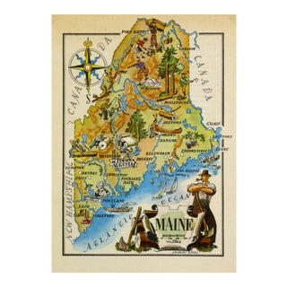Maine Pictorial Map, 1946