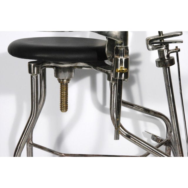 1930s Vintage Adjustable Dental Chair - Image 6 of 8