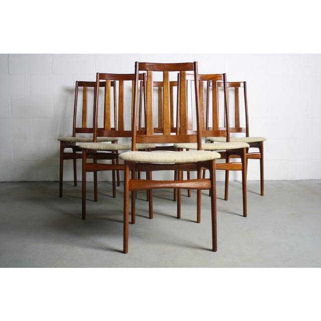 Image of Teak Danish Modern Dining Chairs - Set of 6