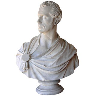 Signed, 19th c. Marble Bust of a Nobleman