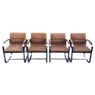 Mid-Century Modern Chrome Chairs - Set of 4