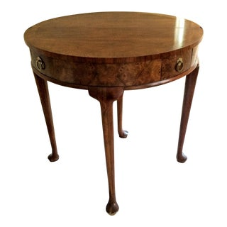 Baker Furniture Georgian Round Flip Top Demilune Table