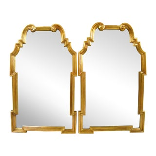 LaBarge-Style Scroll Mirrors - Pair
