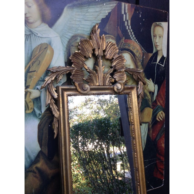 Image of Vintage Gilded Gold Italian Rocco Mirror