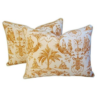 Chinoiserie Toile Pillows - a Pair