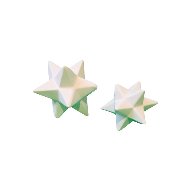 Origami Star Objects- A Pair - Image 1 of 4