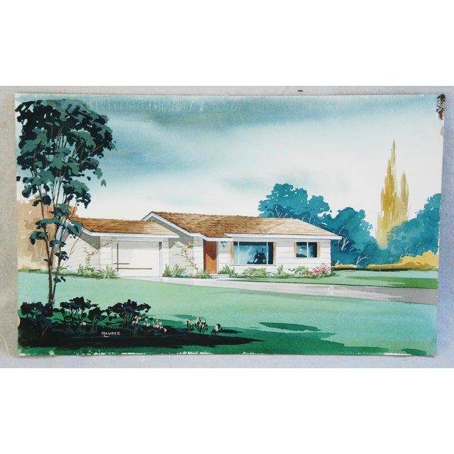 Architectural Watercolor by Bill Maurer - Image 2 of 4