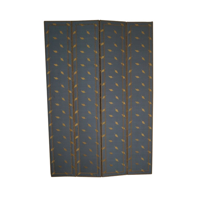 Quality Upholstered Tall Folding Screen - Image 1 of 10