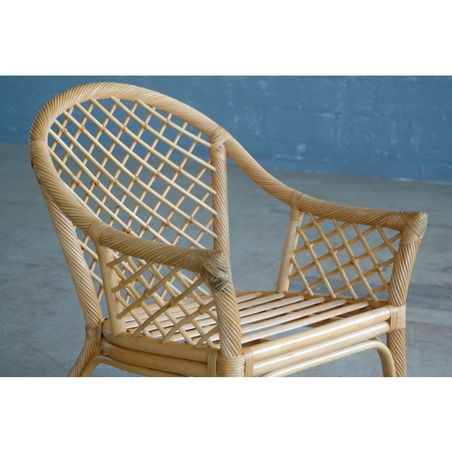 Mid Century Modern Danish Rattan Armchairs - a Pair - Image 9 of 11
