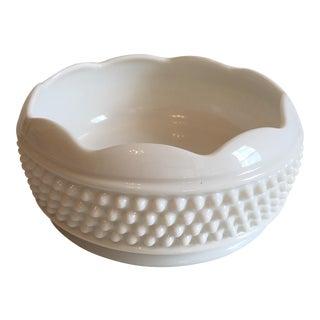 Vintage Hobnail Milk Glass Bowl
