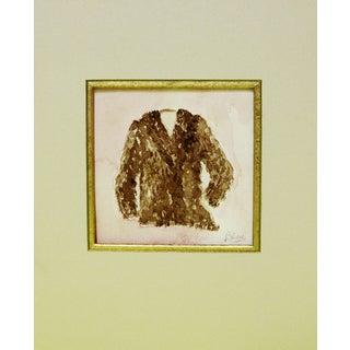 Brown Furry Coat Watercolor