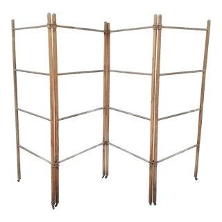 Wood & Metal Folding Rack or Screen