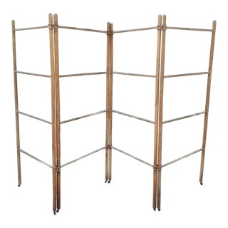 Wood & Metal Folding Rack or Screen