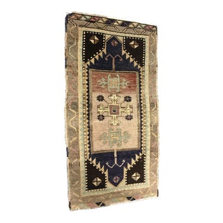 "Small Vintage Turkish Anatolian Rug - 1'7""x3'2"""