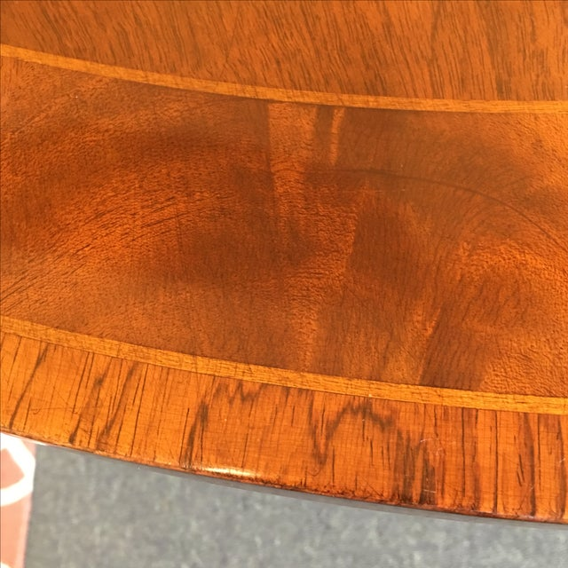 Old Colony Mahogany Pedestal Dining Table & Leaves - Image 5 of 11
