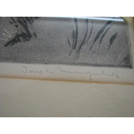 Paris Chess Club 1930 Abstract Etching - Image 4 of 5