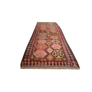 Vintage Traditional Handmade Kilim Rug - 5′ × 14′5″