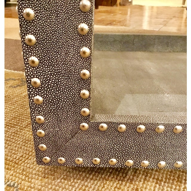 Regina Andrews Feaux Python Studded Accent Cube Table - Image 6 of 9
