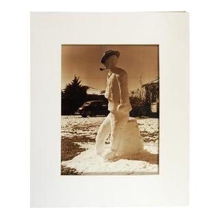 1950's Snowman Photograph