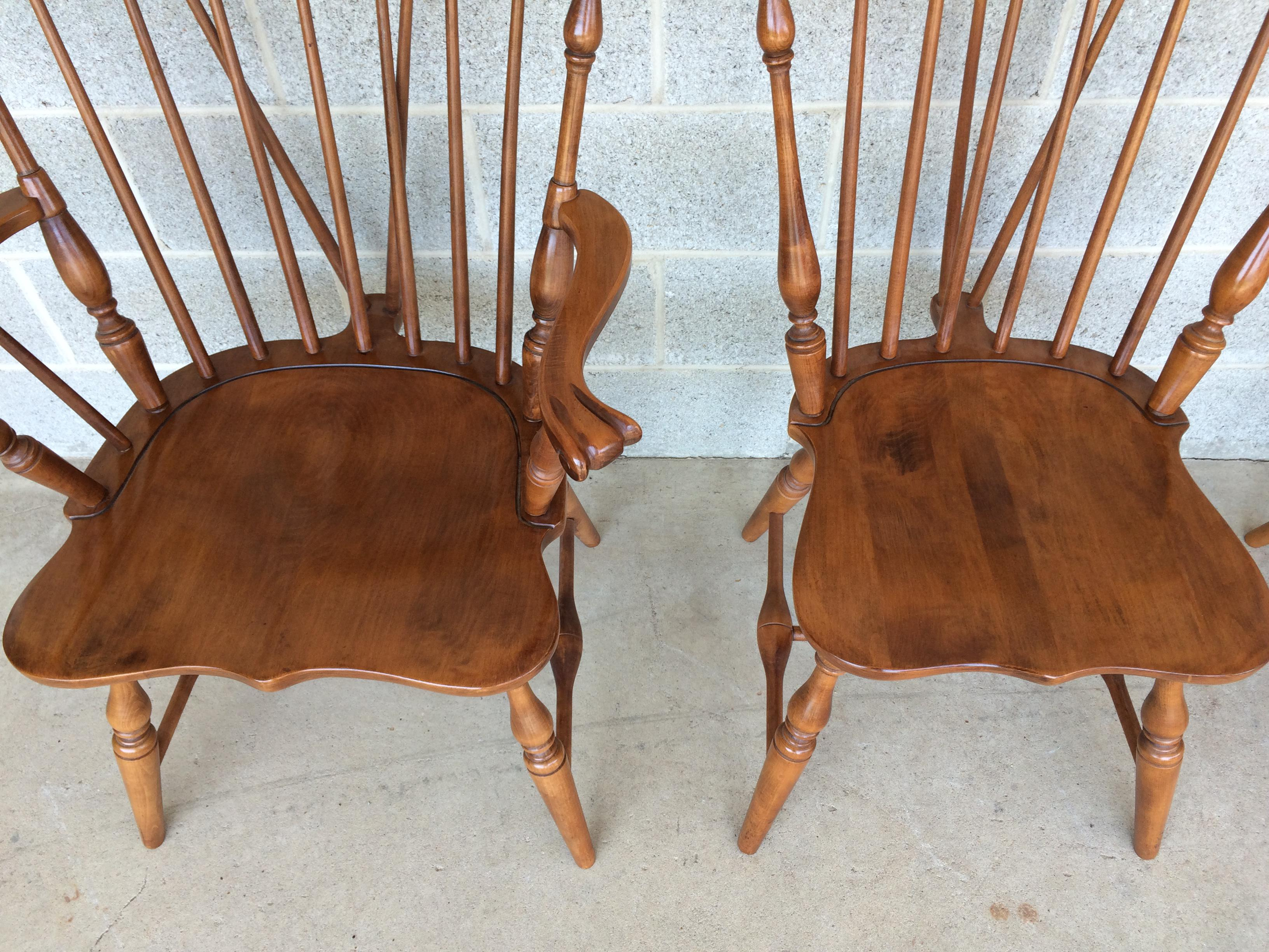 Attractive Tell City Maple Windsor Brace Back Dining Chairs   Set Of 6   Image 3 Of