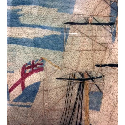 British Sailor's Woolie Woolwork of a Royal Navy Ship, Circa 1865-75. - Image 3 of 4