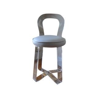 1970s Rialto Plastic Lucite Vanity Chair