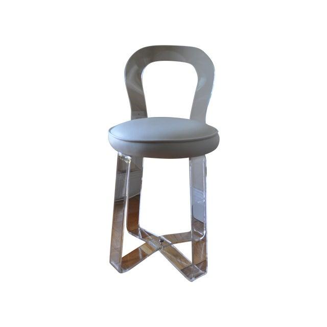 1970s rialto plastic lucite vanity chair chairish - Acrylic vanity chair ...