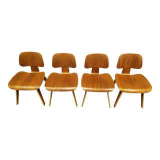 Eames Walnut Dining Chairs - Set of 4