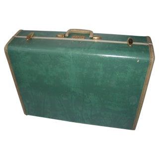 Mid Century Turquoise Vinyl Samsonite Suitcase