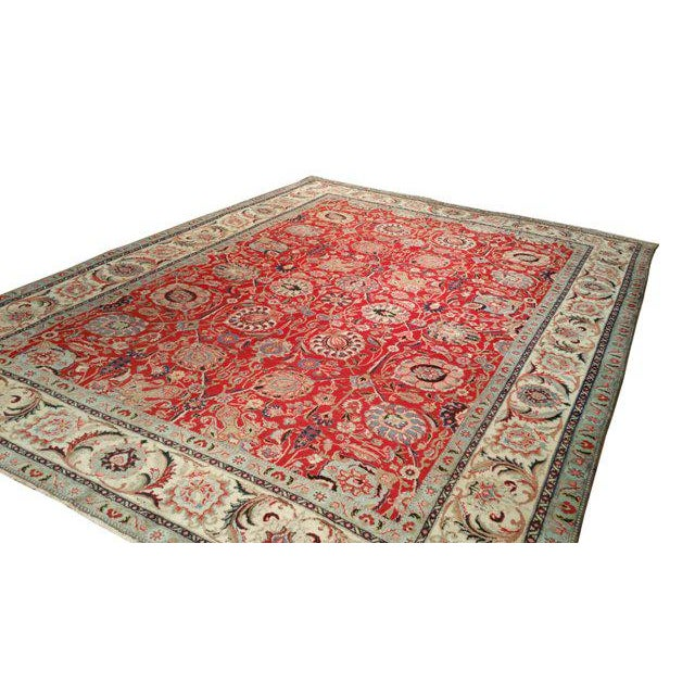 10′1″ X 13′2″ Persian Handmade Knotted Rug - Size Cat. 10x13 10x14 - Image 3 of 4