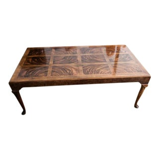 Baker Furniture Walnut Coffee Table